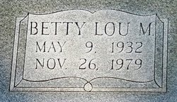 Betty Lou <i>M</i> Barbee