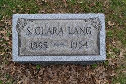 Sarah Clarissa Clara <i>Dyer</i> Lang