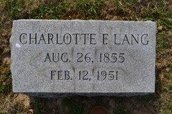 Charlotta Elizabetha Lottie Lang
