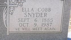 Ella <i>Cobb</i> Snyder