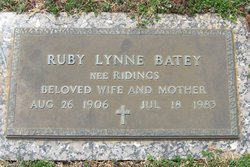 Ruby Lynne <i>Ridings</i> Batey