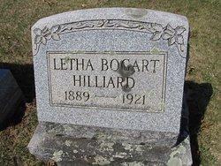 Letha <i>Bogart</i> Hilliard
