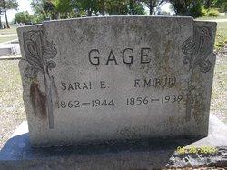 Sarah Elizabeth <i>Weatherby</i> Gage