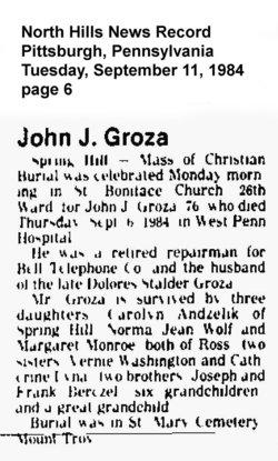 John J Groza