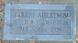 Marion Frances <i>Eckman</i> Ahlstrom