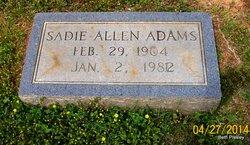 Sadie <i>Allen</i> Adams