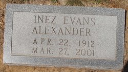 Inez <i>Evans</i> Alexander
