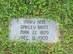 Mary Ann <i>Oakley</i> Britt