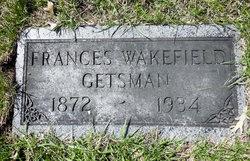 Frances Mary <i>Wakefield</i> Getsman