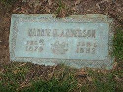 Nannie <i>Hansel</i> Anderson