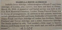 Isabella Irene Aldridge