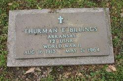 Thurman E Billings
