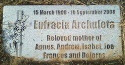 Eufracia Mary <i>Abeyta</i> Archuleta