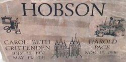 Carol <i>Crittenden</i> Hobson