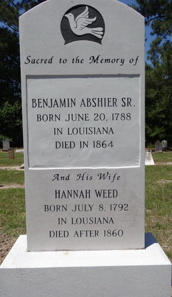 Hannah <i>Weed</i> Abshier