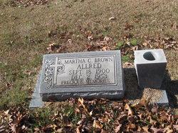 Martha C. <i>Brown</i> Allred