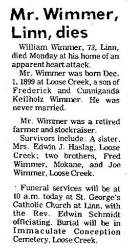 Willilam W. Pickel Bill Wimmer