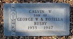 Calvin W Busby