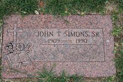 John T Simons, Sr