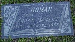 Ander (aka Andy) Benton Boman