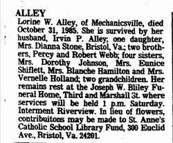 Alice Lorine <i>Webb</i> Alley