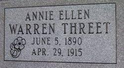 Annie Ellen <i>Warren</i> Threet