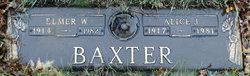 Alice J. <i>Swartz</i> Baxter