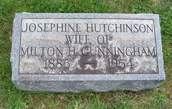Josephine M <i>Hutchinson</i> Cunningham