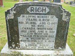 Anna Canada Florence Matilda Canada <i>Whiteside</i> Rich