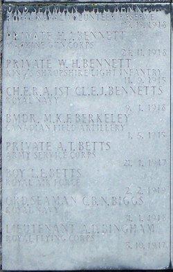 Ordinary Seaman Charles Henry Bennett
