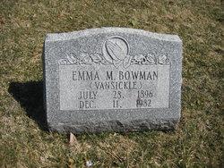 Emma M. <i>Vansickle</i> Bowman