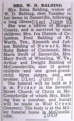 Edna Mary <i>Walraven</i> Balding