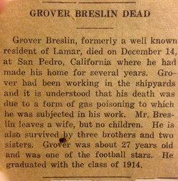 John Edward Grover Breslin