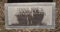 Jennie Mae <i>Goodson</i> Brown