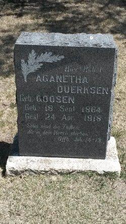 Aganetha <i>Goosen</i> Duerksen