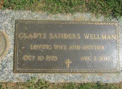 Gladys <i>Sanders</i> Wellman