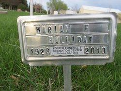 Marian Frances <i>Shutt</i> Halliday