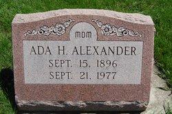 Ada H. <i>Zimmerman</i> Alexander