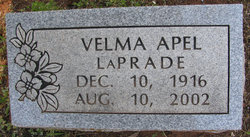 Velma Pauline <i>Apel</i> LaPrade