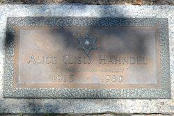 Alice <i>Alt</i> Hahndel