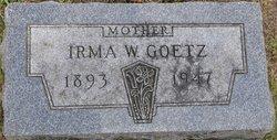Irma W <i>Rathke</i> Goetz