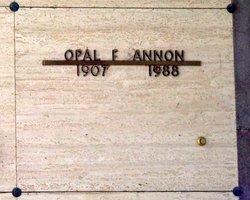 Opal Frances <i>Ragsdale</i> Annon
