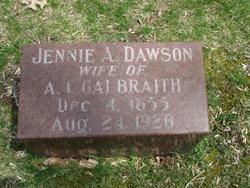 Jennie A <i>Dawson</i> Galbraith