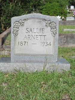 Sarah J Sallie <i>Snider</i> Arnett