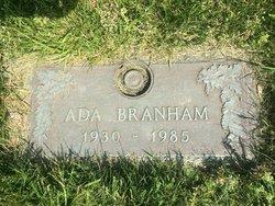 Ada Bertha <i>Webb</i> Branham