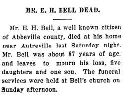 Ebenezer Hayne E H Bell