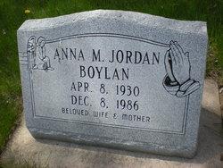 Anna M <i>Jordan</i> Boylan