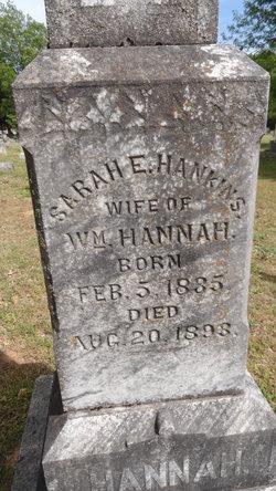 Sarah E <i>Hankins</i> Hannah