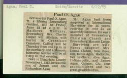 Paul Otis Agan