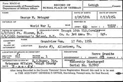 George W. Metzger, Sr
